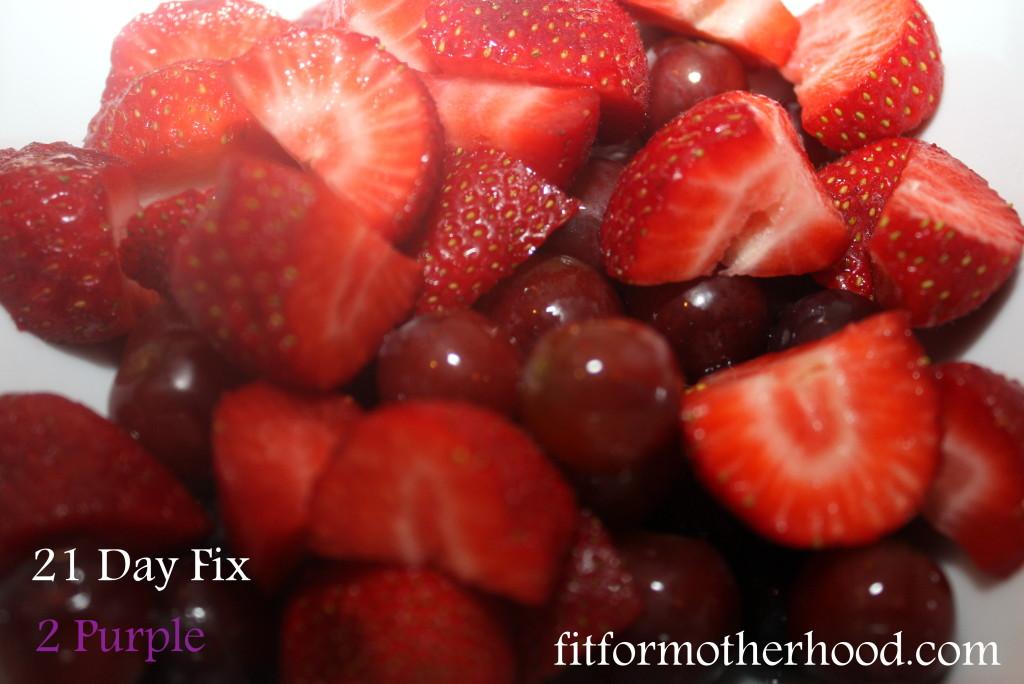 wiaw - 21 day fix fruit