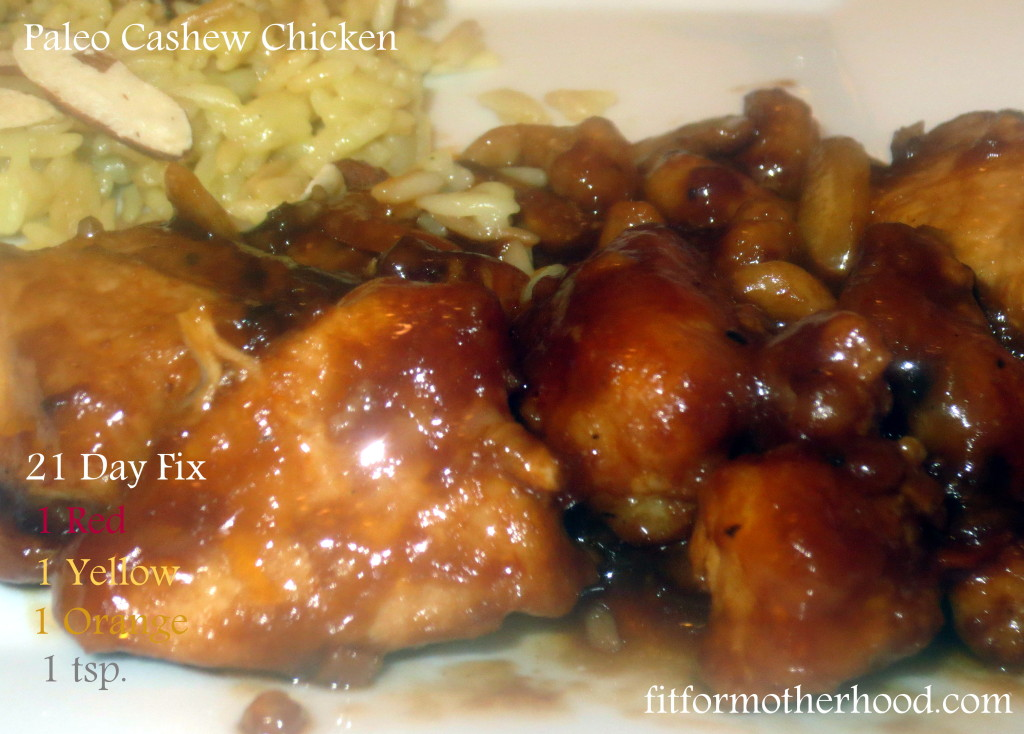 wiaw - 21 day fix paleo cashew chicken