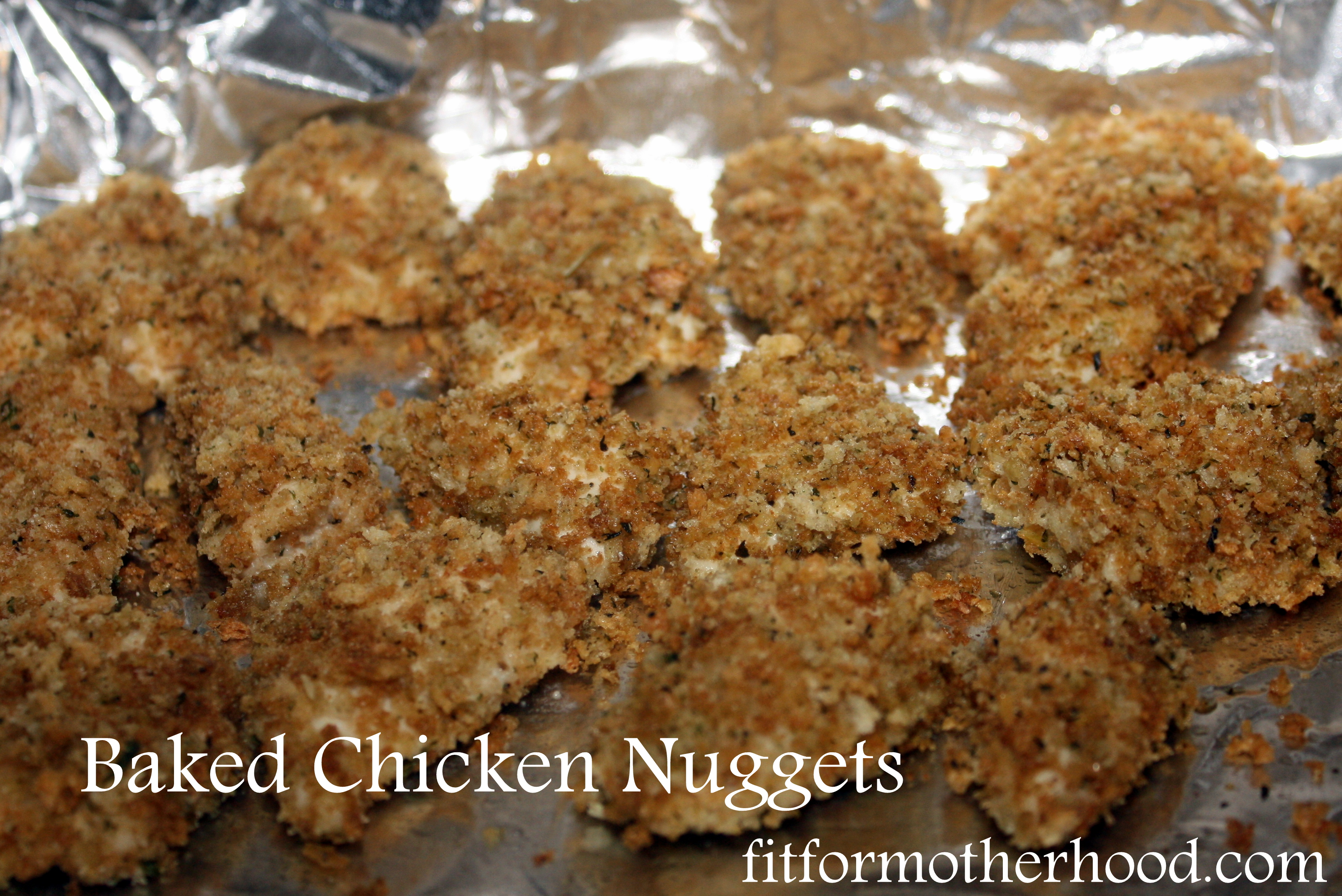 Easy and Healthy Baked Chicken Nuggets