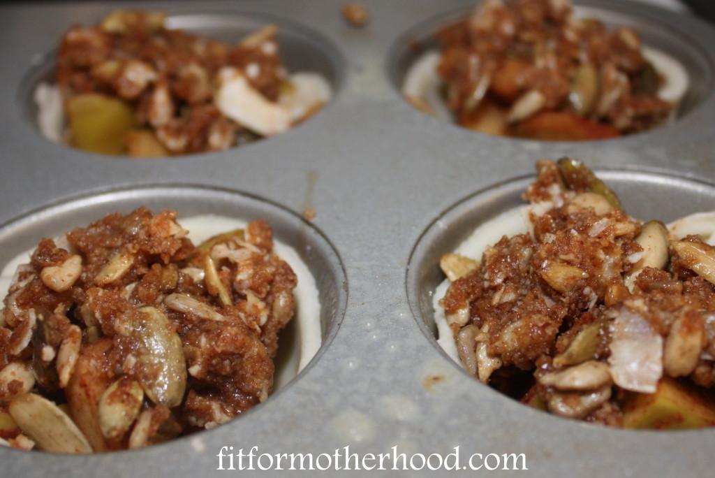 mini apple pie crisps crust before cooking