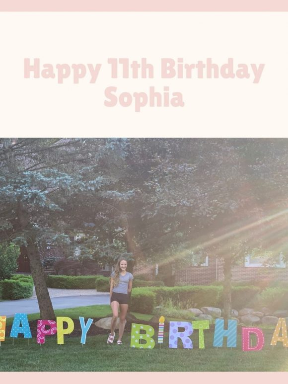 My Sophia is ELEVEN