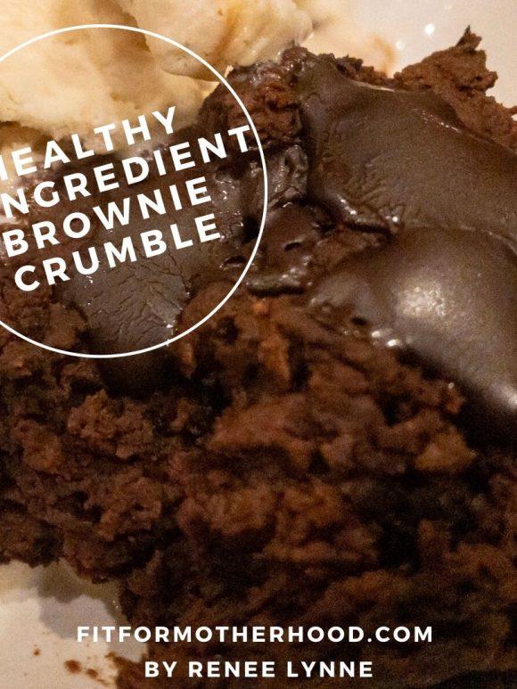 Healthy 4-Ingredient Brownie Crumble