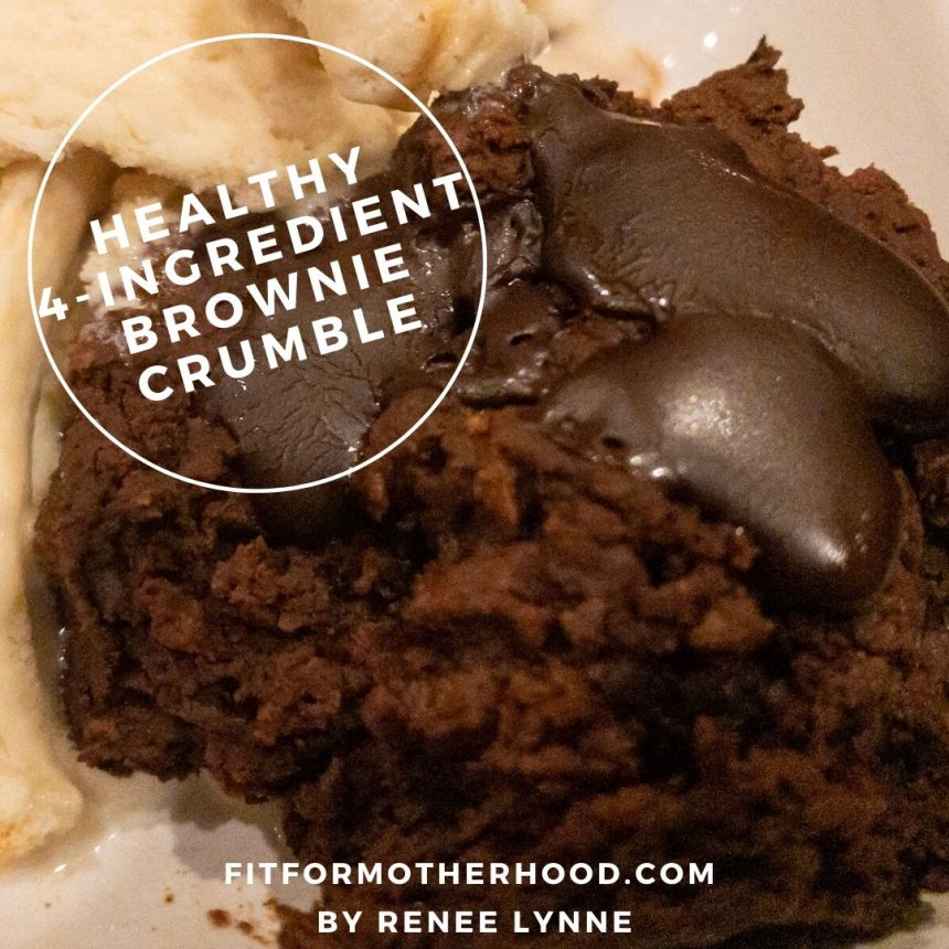 Healthy 4-Ingredient Brownie Crumble