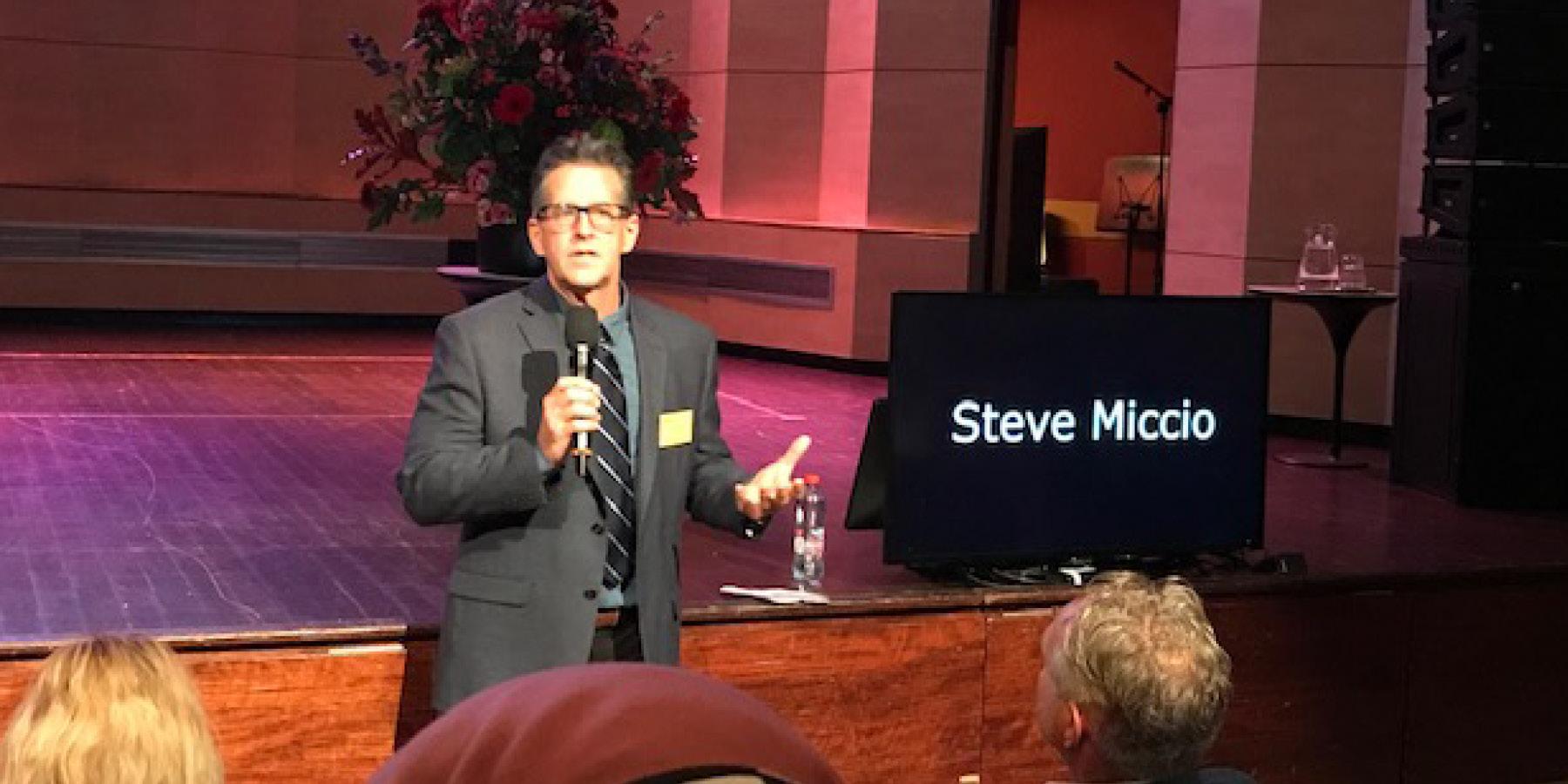 Steve Miccio making presentation