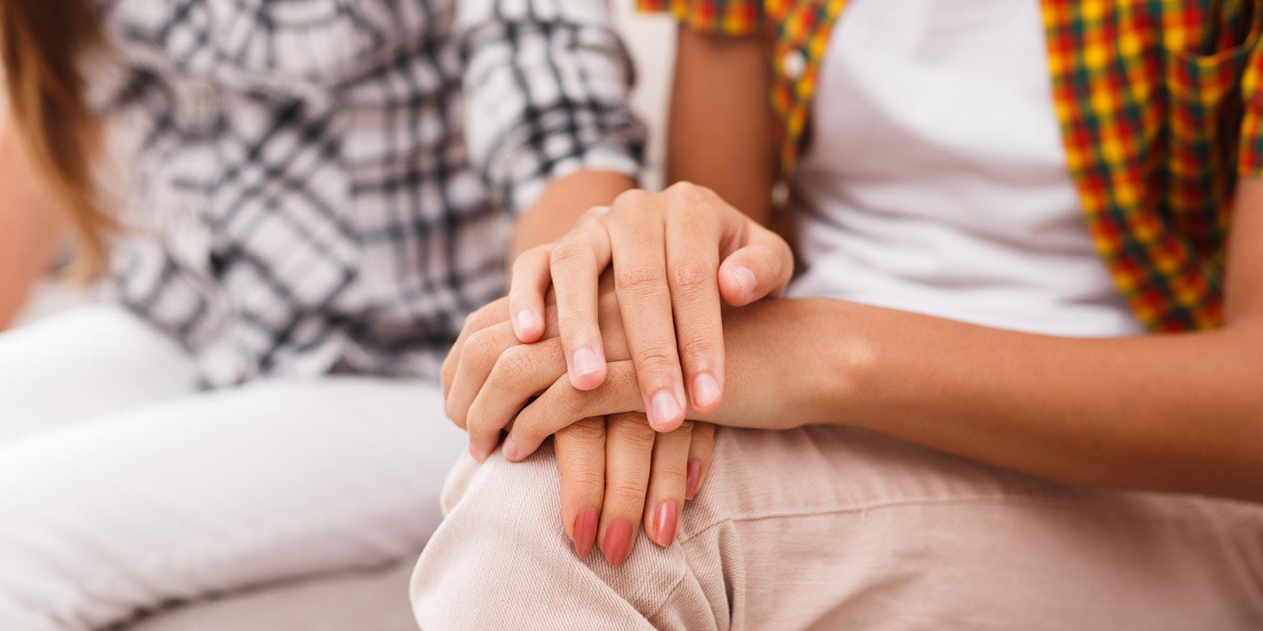 Closeup of women's hands