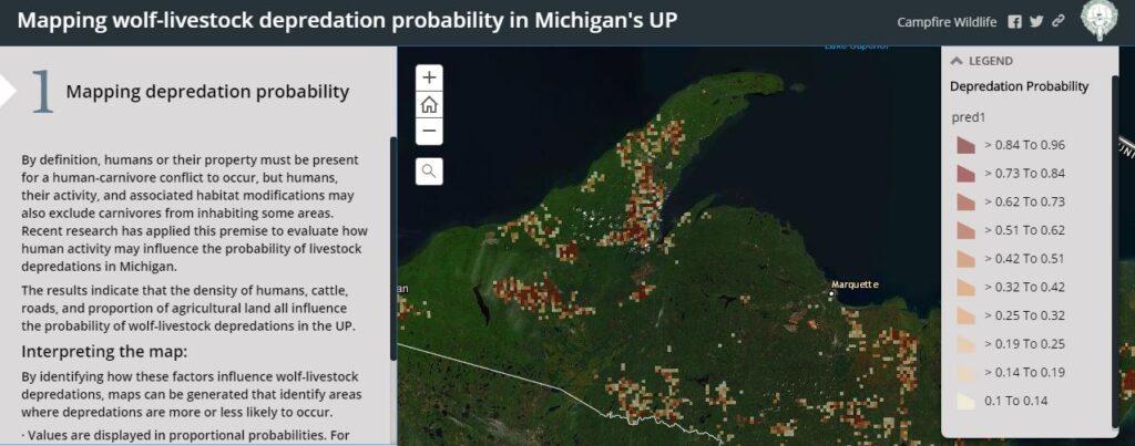 Wolf-livestock Depredation Risk Map