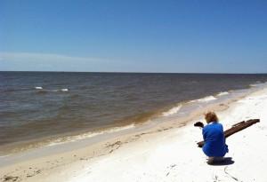 LIsa at beach