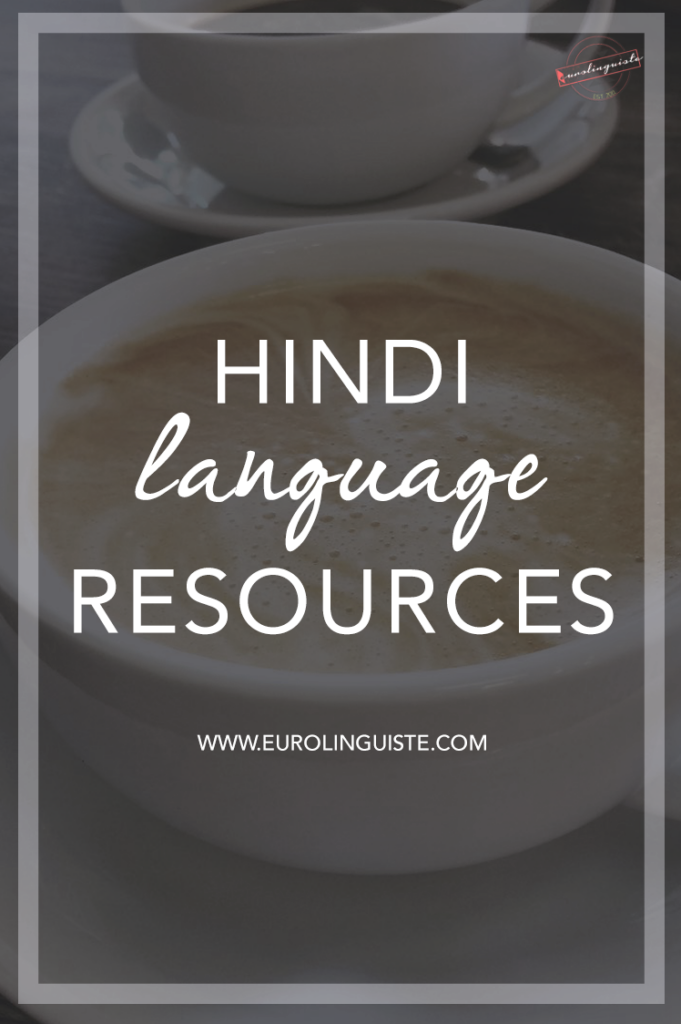 Hindi language learning resources