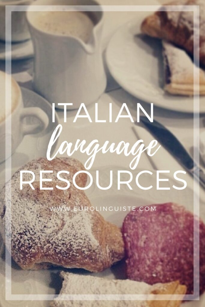 Italian language learning resources