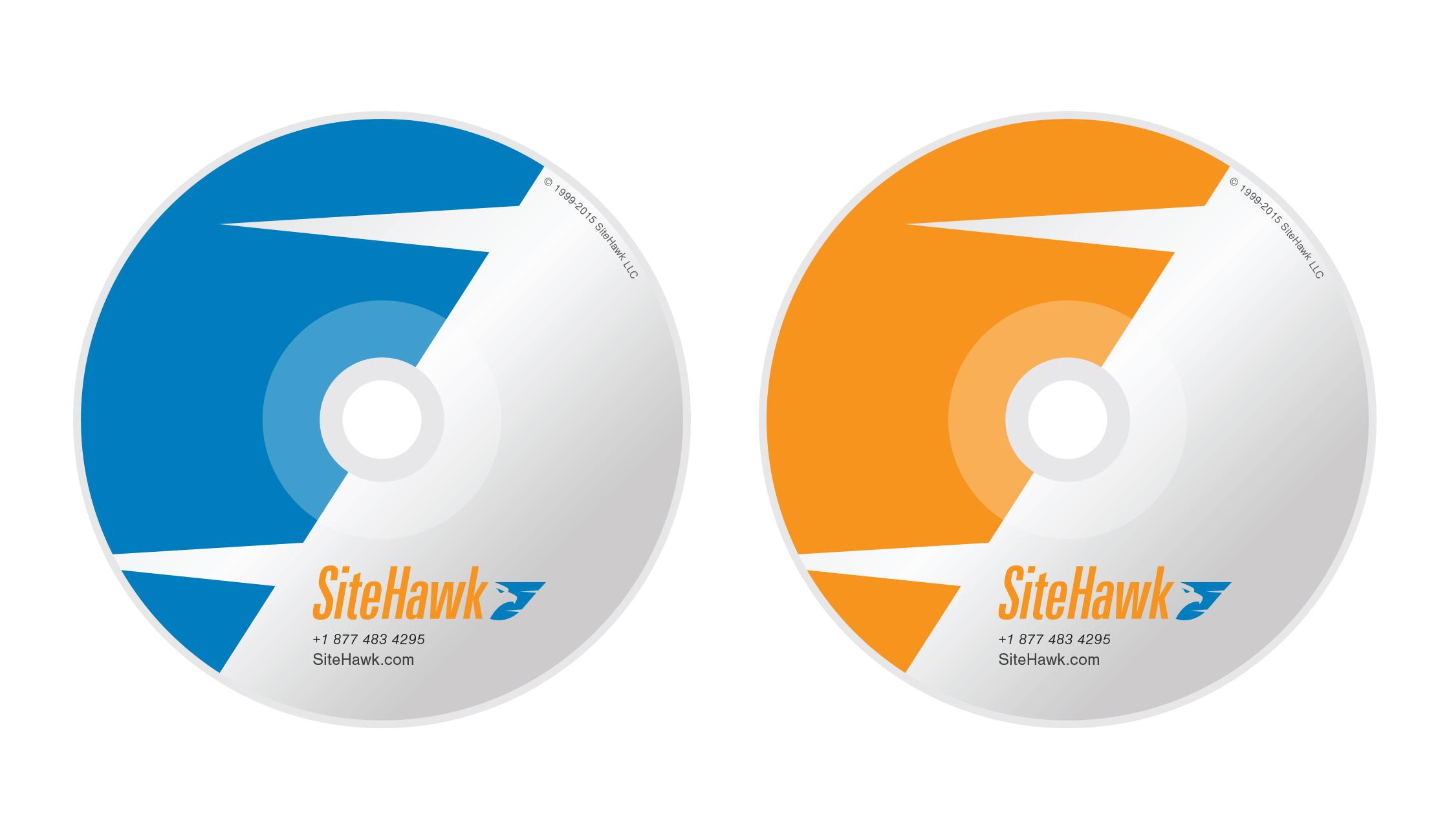 DVD (Blue) and CD (Orange)