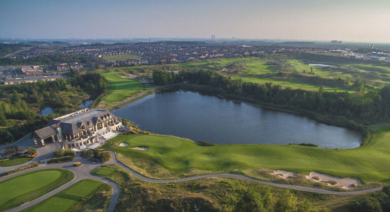 eagles next golf club aerial photography sunset