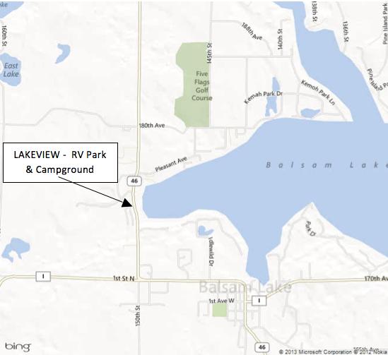 Balsam Lake Wisconsin Map