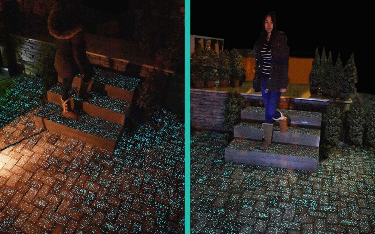 Woman on Glow Path Steps