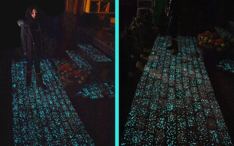 Glow Path Pavers pathway with steps