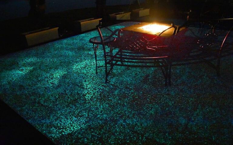 Close up of Glow Path Paver patio