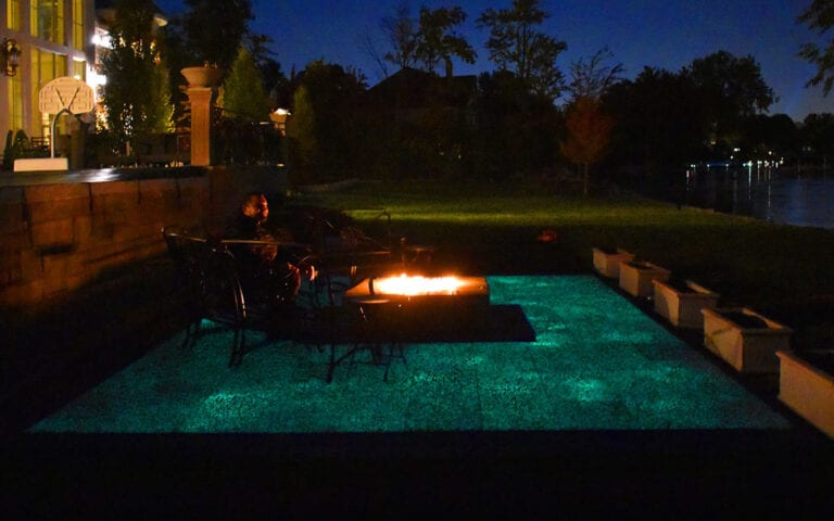 Lighting up the night with a Glow Path Paver patio