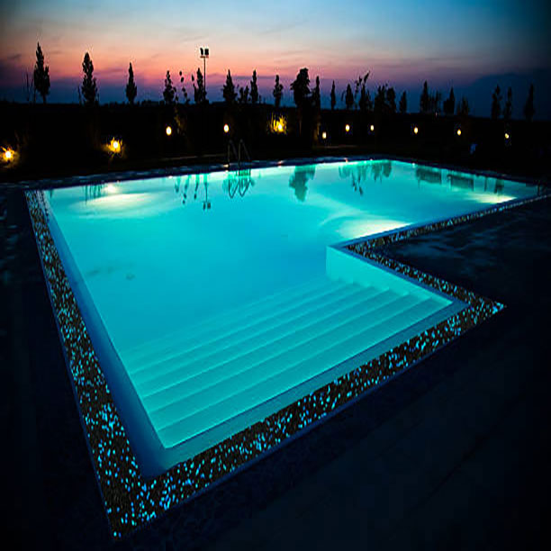 Swimming Pool with Glow Path Coping
