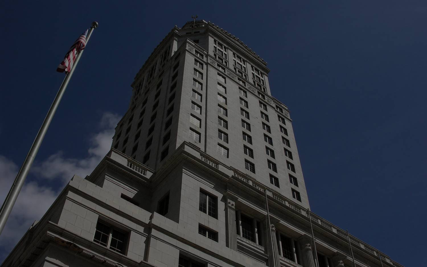 Darkened Image of Miami Dade County Courthouse