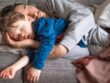 man and child sleep