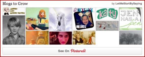 Blogs to Grow Pinterest Board by @LetMeStart #BlogLove