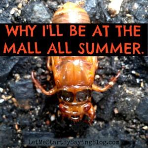Cicadas in NJ sent me to the mall @LetMeStart