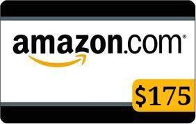 Amazon 175 gift card #giveaway