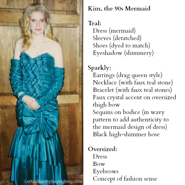 Kim Bongiorno Mermaid Prom 90s LetMeStartBySaying