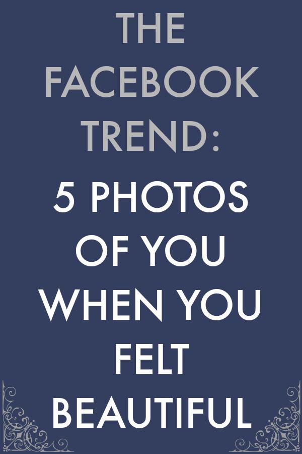 5 beautiful photos Facebook trend by Kim bongiorno