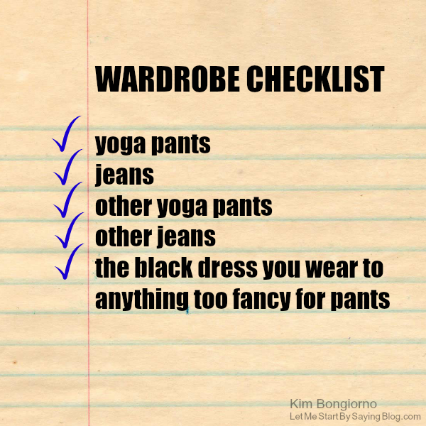 Wardrobe checklist for moms by Kim Bongiorno