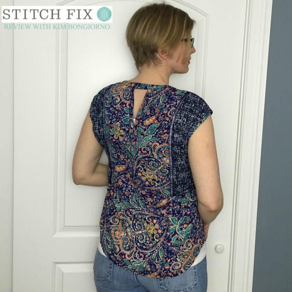 Daniel Rainn Salden Lattice Detail Blouse Purple print Spring 2016 Stitch Fix Review with @letmestart | #stitchfix fashion and Stitch Fix Inspiration