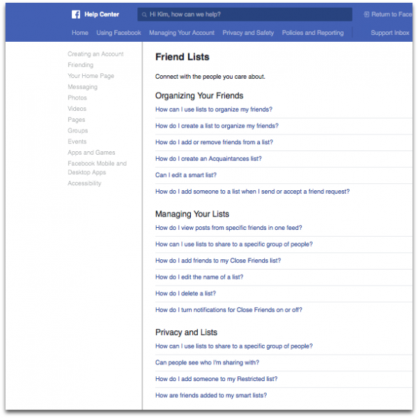 How to Make Reading Lists on Facebook by @letmestart | Make Friends Lists to save you time and sanity on social media