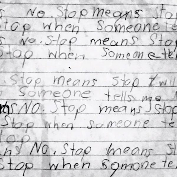 No Means No and Stop Means Stop by @letmestart   Raising kids who respect boundaries. #rapeculture