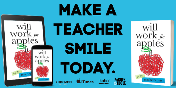 WILL WORK FOR APPLES is the perfect gift for teachers! Featuring essays by 39 authors, including Kim Bongiorno, Jen Mann, Julianna Miner, AK Turner, Victoria Fedden and more.