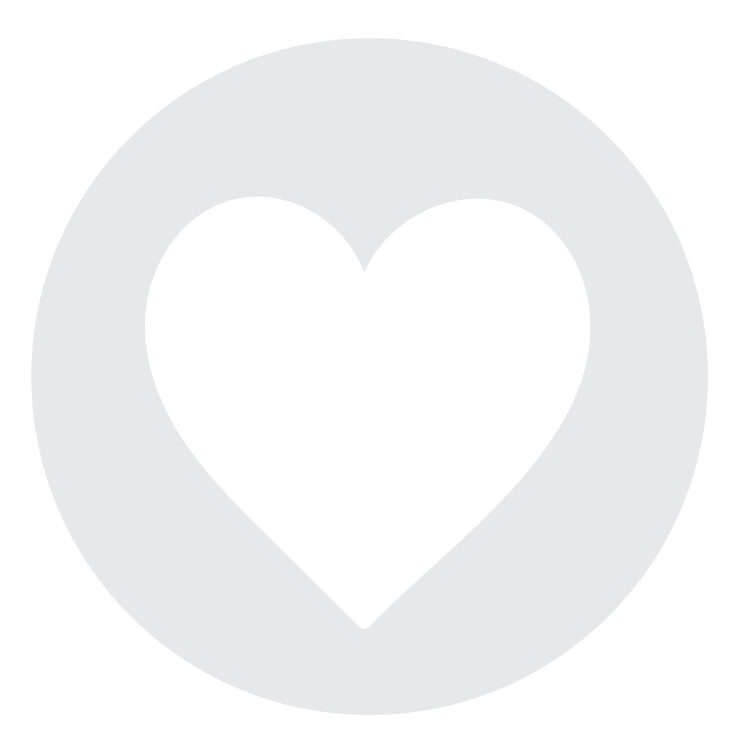 A placeholder, grey and white vector of a heart.
