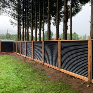 The Chilliwack Cedar Fence Panel