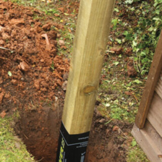 Pressure Treated Post with postsaver