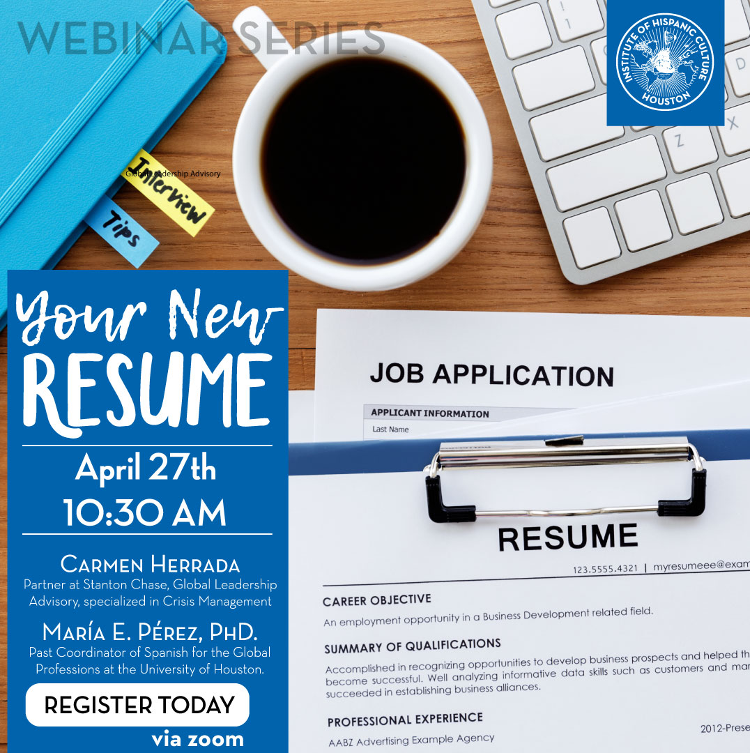 YOUR NEW RESUME @ Webinar Series