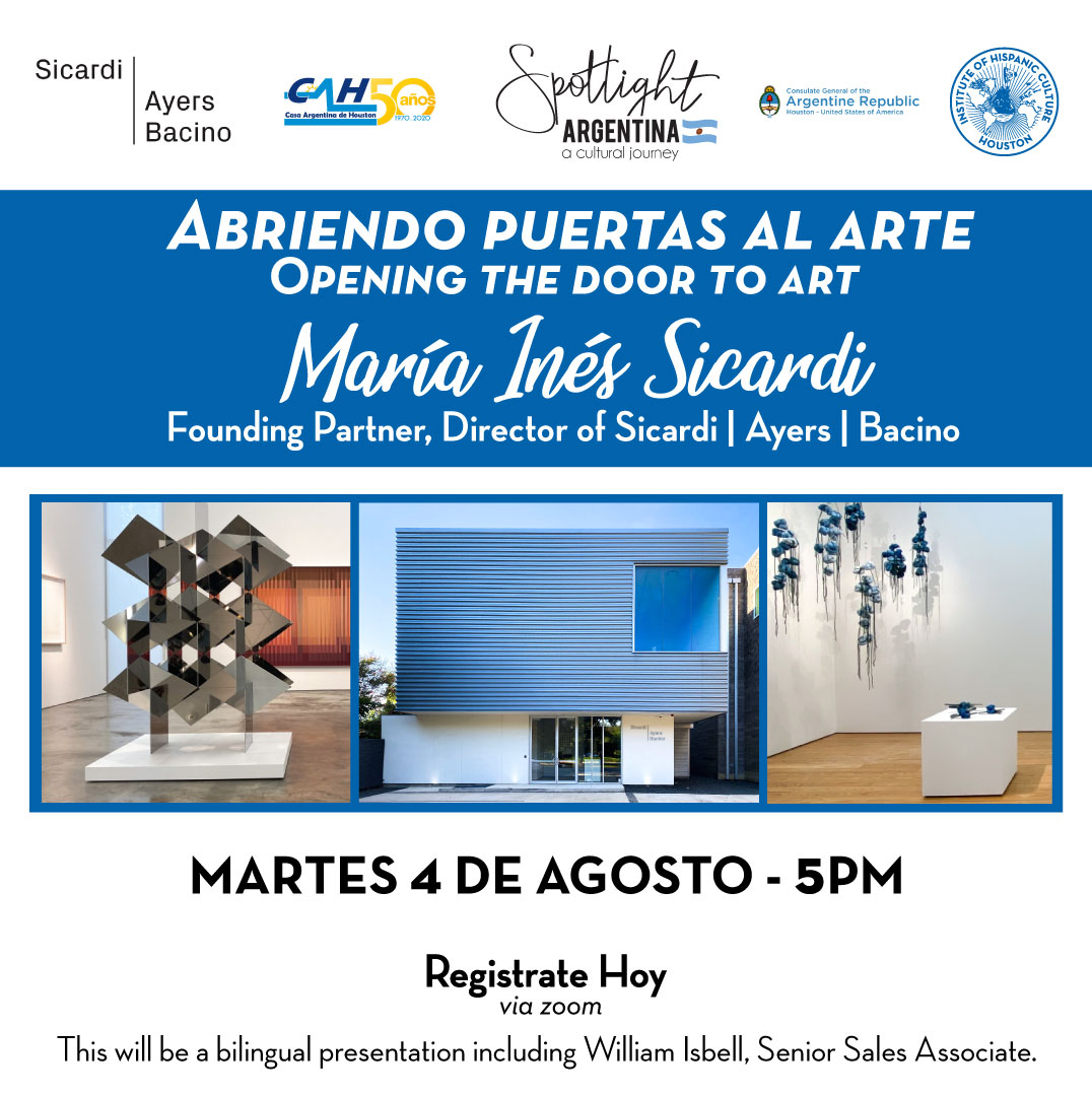 Abriendo puertas al arte/ Opening the door to art @ Online Event