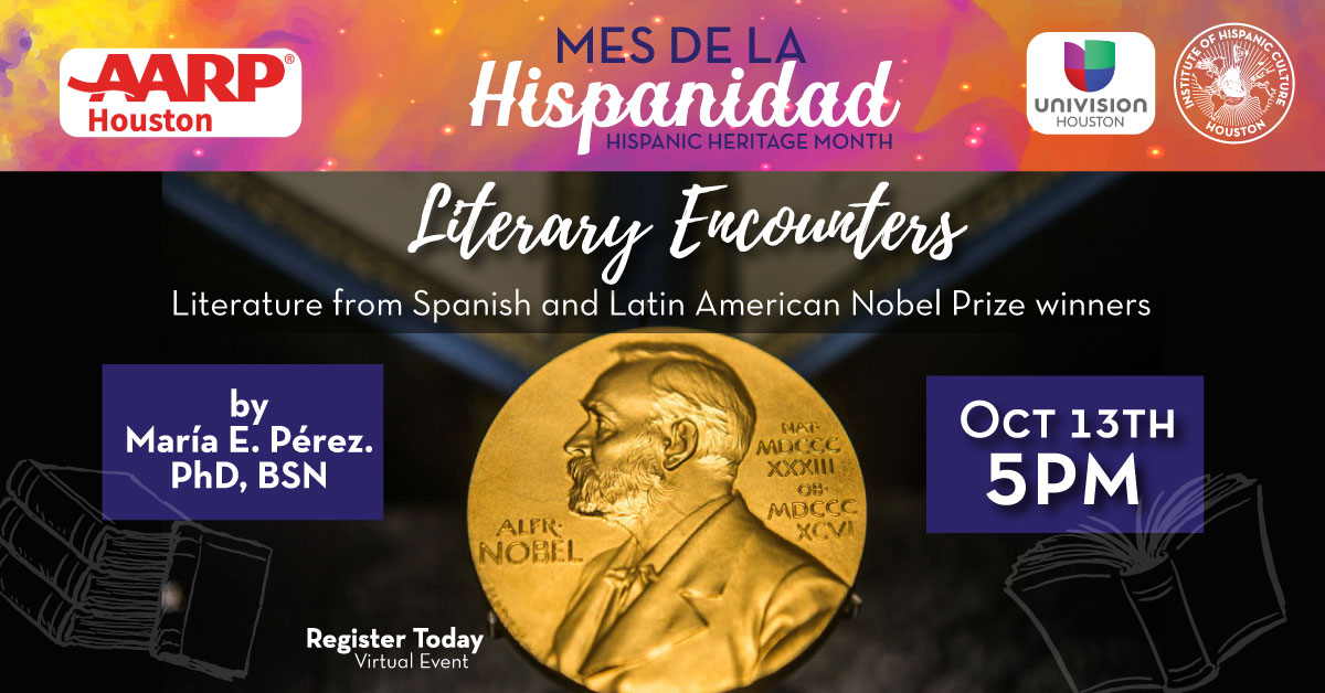 Literary Encounters. Literature from Spanish and Latin American Nobel Prize winners @ Online Event