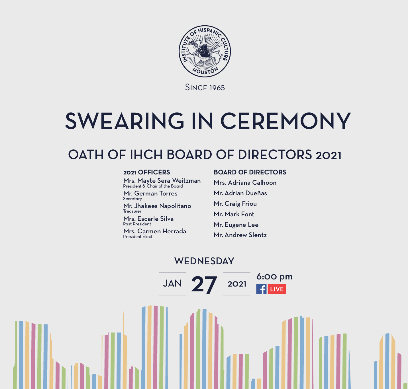 Swearing in Ceremony of the 2021 Board Members
