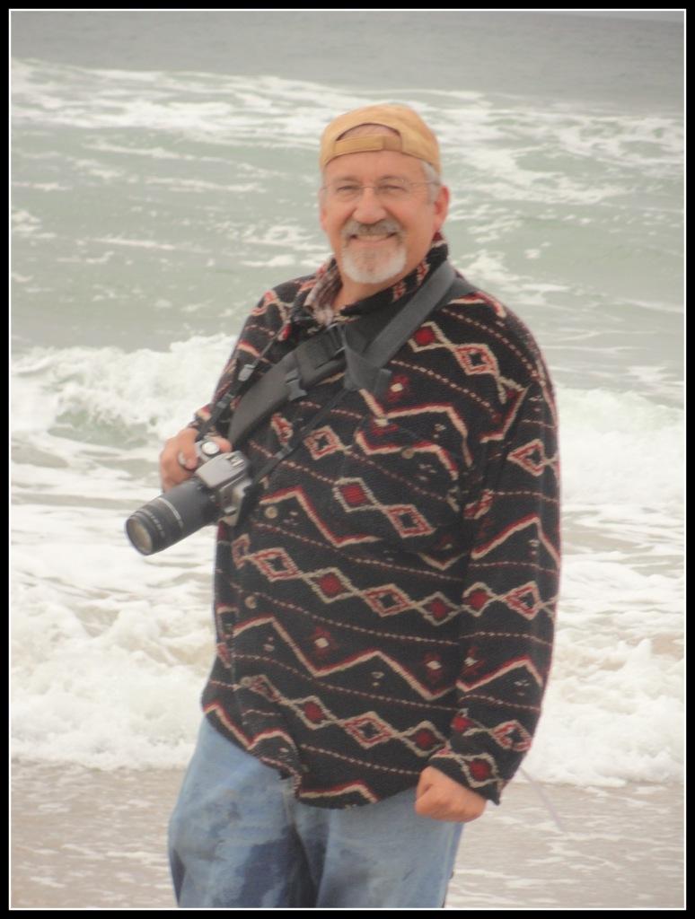 Steven Faulkner With Camera  Oceanside
