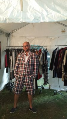 Bradley from Joseph Ribkoff at the Bijou Boutique garden party in Byron Aug 27th 2015