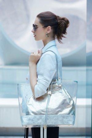 Joseph Ribkoff purses - Clear / silver
