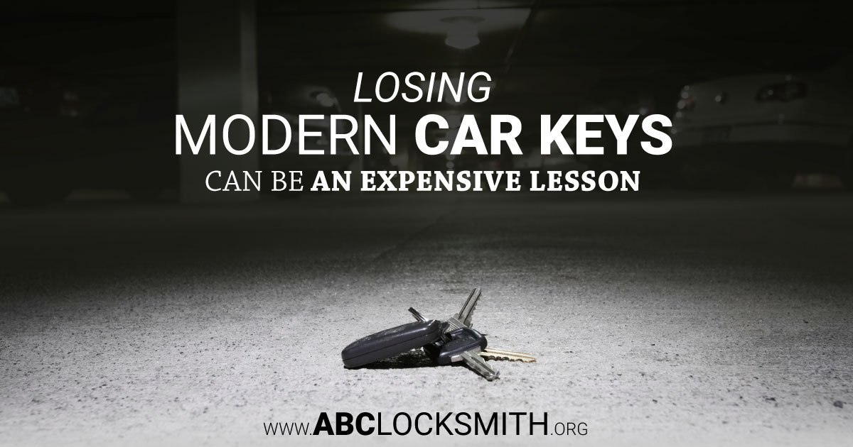 Losing Modern Car Keys Can Be An Expensive Lesson