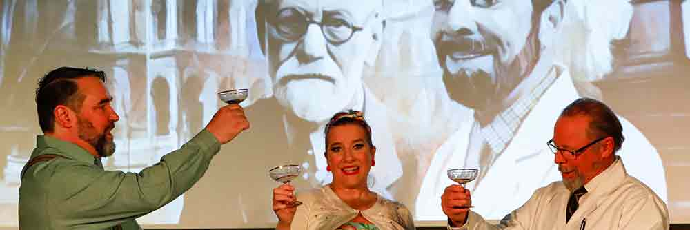 Toasting true love and Dr Freud.