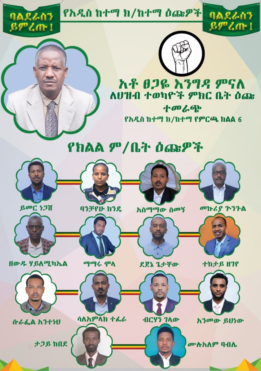 Addis-ketema-zone-6-candidates