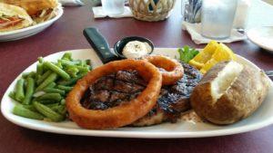 Lewiston Lodge - Rib Eye Steak Dinner
