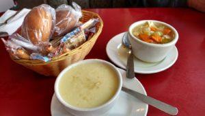 Royal Cafe's Lemon Rice & Vegetable Soups