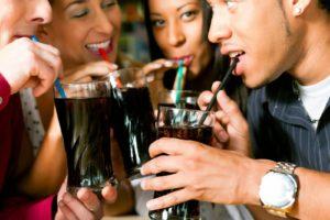 Friends Choosing Colas