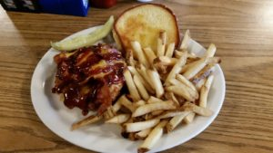 The South West Chicken Sandwich with Fries